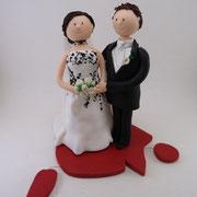 Tortenfigur Brautpaar Maler