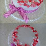 Geburtstagstorte rosa Blümchen