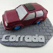 Tortenaufleger Auto mit Schriftzug