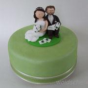 Hochzeitstorte mit woidschenken-Tortenfiguren