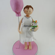 Tortenfigur Mädchen mit Luftballon