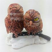Tortenfiguren Brautpaar Tiere Eulen Käuzchen