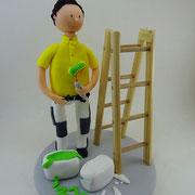 Tortenfigur Maler