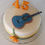 Torte zum 45. Geburtstag