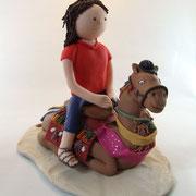Tortenfigur Kamel mit Frau