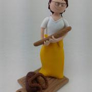 Tortenfigur Bäckerin zum 50. Geburtstag