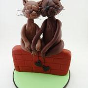 Tortenfiguren Brautpaar Tiere Katzen