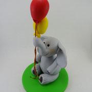 Tortenaufleger Elefant mit Luftballons