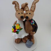 Tortenfiguren Brautpaar Tiere Hasen