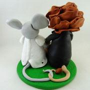 Tortenfiguren Brautpaar Tiere Löwe und Maus