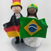 Tortenfiguren Brautpaar Fußballfans
