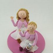 Tortenfiguren Geschwister zur Taufe