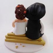 Tortenfigur Brautpaar Zimmermann mit Kind