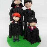 Tortenfigur Familie in Uniform