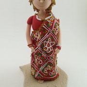 Tortenfiguren im Sari zum 60. Geburtstag