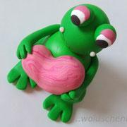 Tortenfigur Frosch mitHerz