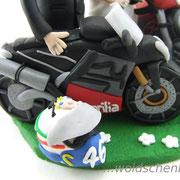 Tortenfiguren Brautpaar Motorräder