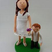 Tortenfiguren Schwester mit Bruder
