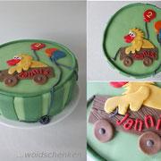 Geburtstagstorte zum 2. Geburtstag