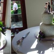 Hochzeitstorte 2-stöckig mit woidschenken-Tortenfiguren