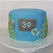 Motivtorte zum vierzigsten Geburtstag