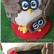 Eulentorte Torte 50. Geburtstag