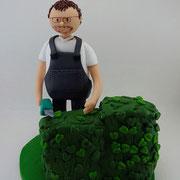 Tortenfiguren Zwillingsgeburtstag Gartenpflege