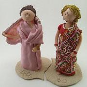 Tortenfiguren im Sari zum 40. Geburtstag, zum 60. Geburtstag