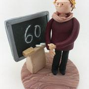 Tortenfigur Lehrerin mit Tafel