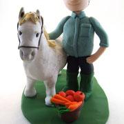 Tortenfigur mit Pferd