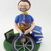 Tortenfigur Radfahrer zum 50. Geburtstag