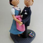 Tortenfigur Brautpaar Tracht