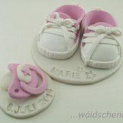 Tortenaufleger Babyschuhe und Schnuller