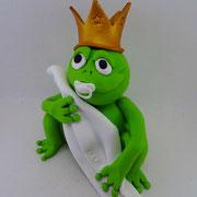 Tortenfigur Frosch mit Schnuller