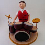 Tortenfigur Schlagzeuger