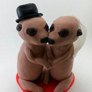 Tortenfiguren Brautpaar Tiere Erdmännchen