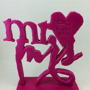 Caketopper MR und MRS mit Herz