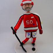 Tortenfigur Eishockeyspieler
