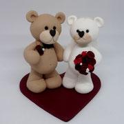 Tortenfiguren Brautpaar Teddybären