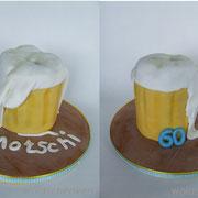 Motivtorte Bierkrug zum 60. Geburtstag