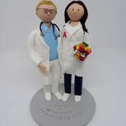 Tortenfigur Brautpaar Arzt und Apothekerin