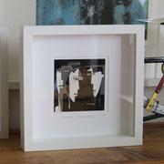 Bild gerahmt (Beispiel, Rahmengröße 25 x 25 cm)
