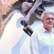 Max Moor beim Interview in Frankfurt