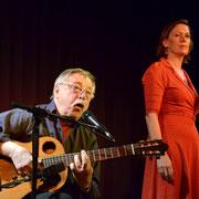 Wolf Biermann beim Chanson-Abend mit seiner Frau Pamela in Heidelberg