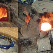 Recréation de bracelets celtes /archéologie expérimentale / Amiens / Journées nationales de l'archéologie