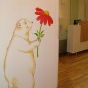 Der Empfang gamalt von einer Künstlerin Frau Gorholt