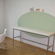Farbkonzept an den Wänden für Untersuchungsraum von Frau Ute Heyden