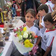 Nuestras niñas futbolistas de San Pablo, la mejores flores de la Escuela
