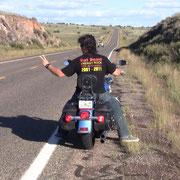 """Rat Road"" auf der Route 66 (September 2013, Arizona)"