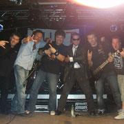 "September 2010 beim Woodstock EBE Festival - ""Böse Band mit bösem Ali Khan"" ;-)"